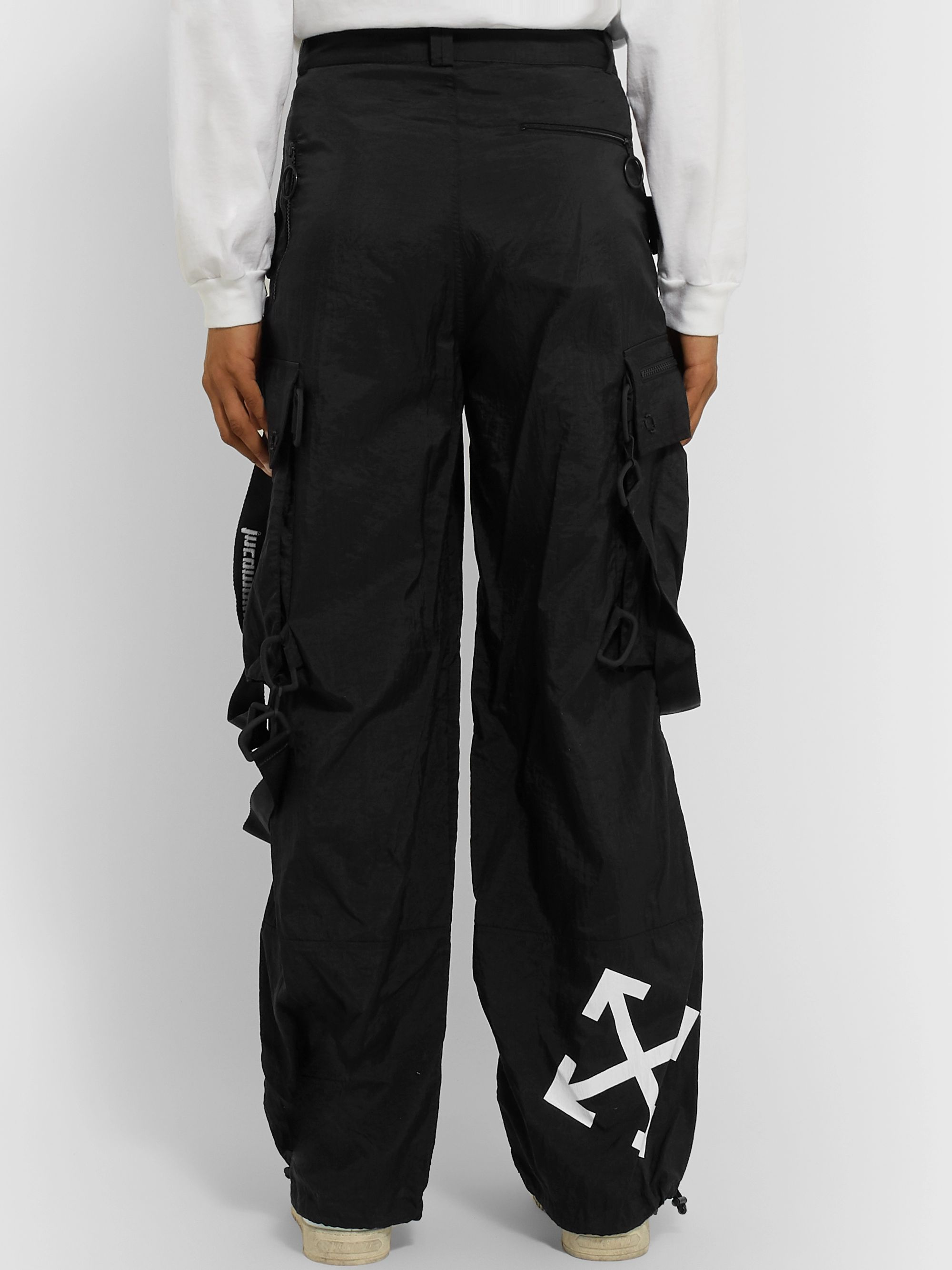 Off-White Wide-Leg Logo-Detailed Ripstop Cargo Trousers