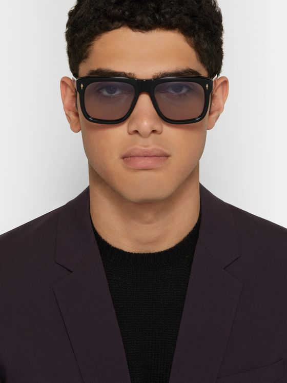 Jacques Marie Mage Yves Square-Frame Acetate Sunglasses