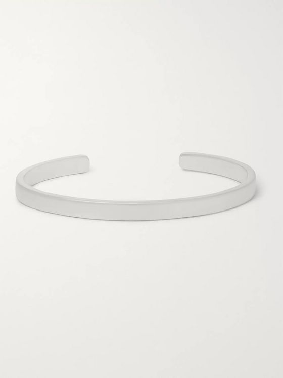 Miansai Singular Brushed Sterling Silver Cuff