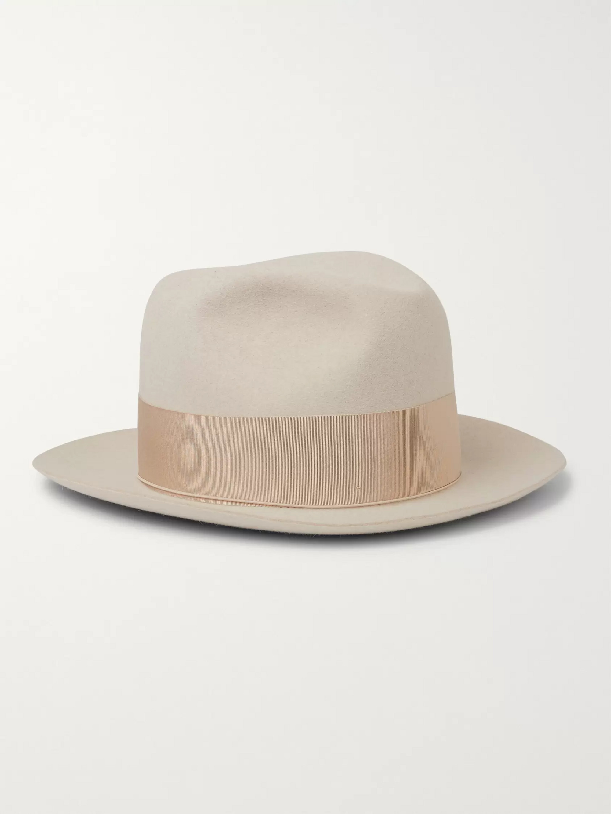 d08df84e51933 ... Straw Panama Hat. €205. Borsalino The Bogart Grosgrain-Trimmed  Rabbit-Felt Fedora