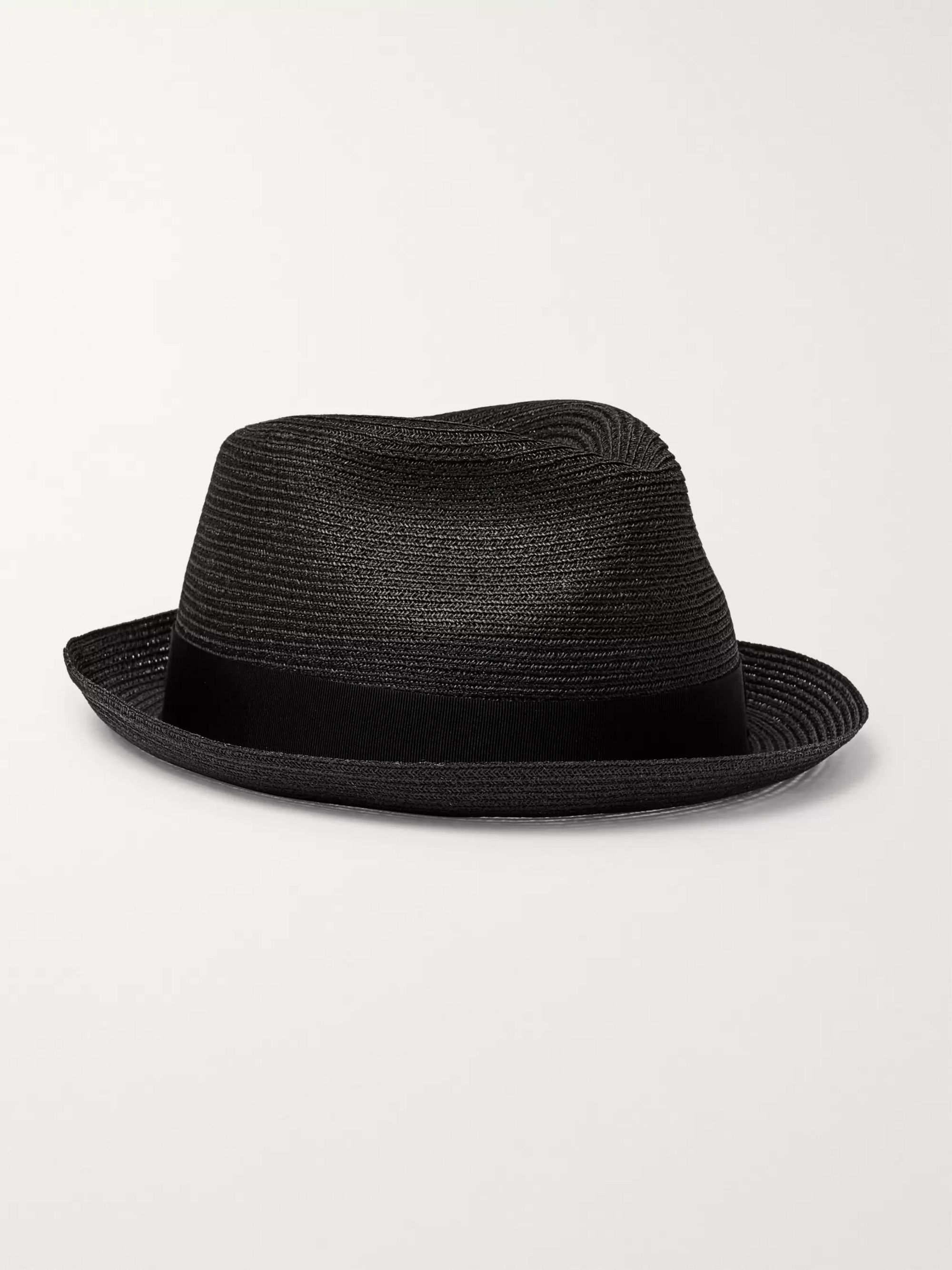 Traveller Grosgrain Trimmed Hemp Panama Hat by Borsalino