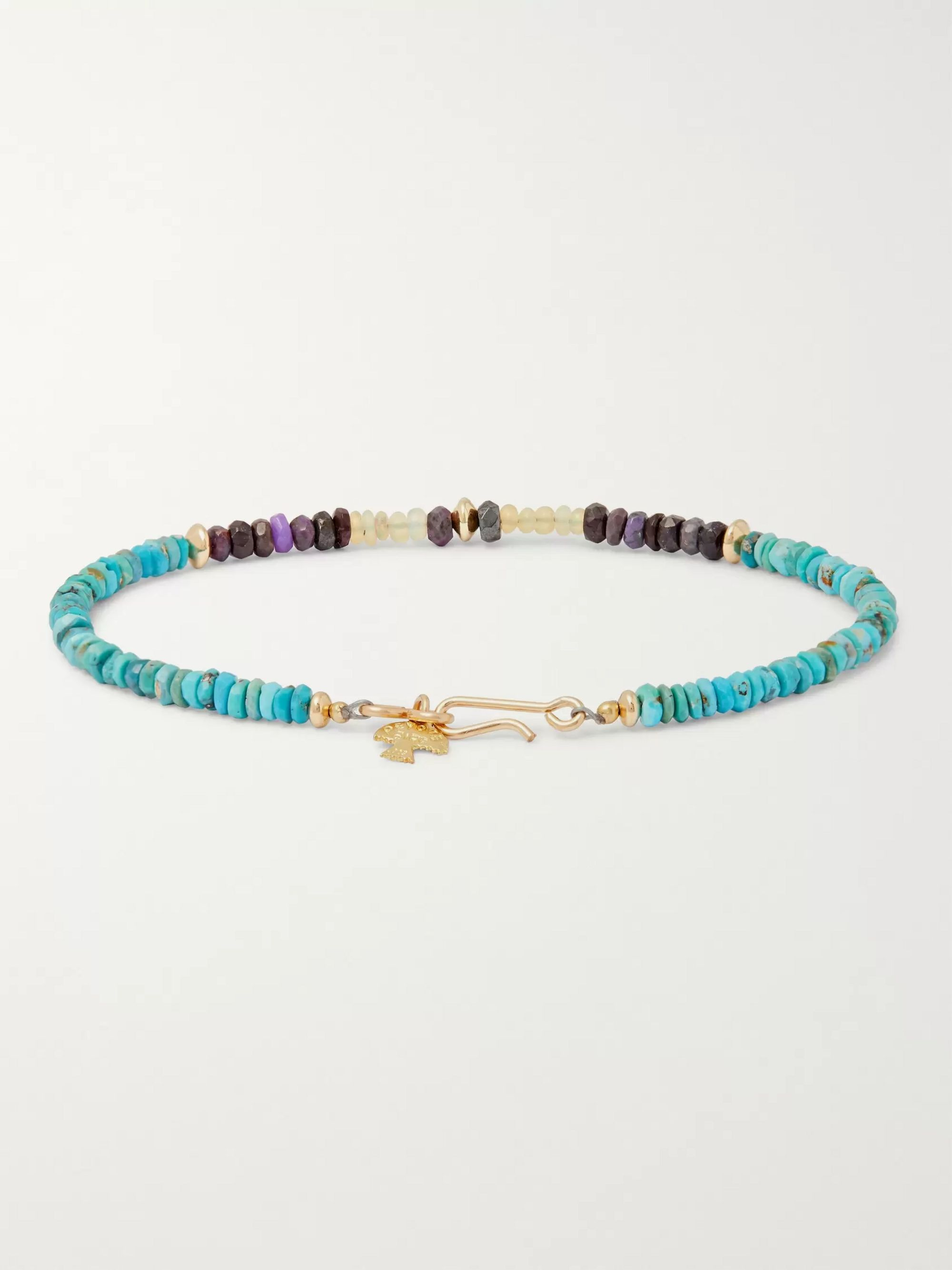 Peyote Bird Multi-Stone and 14-Karat Gold-Filled Bracelet