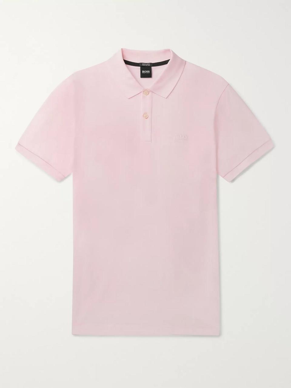 75a470338880 Pink Pallas Cotton-Piqué Polo Shirt | Hugo Boss | MR PORTER