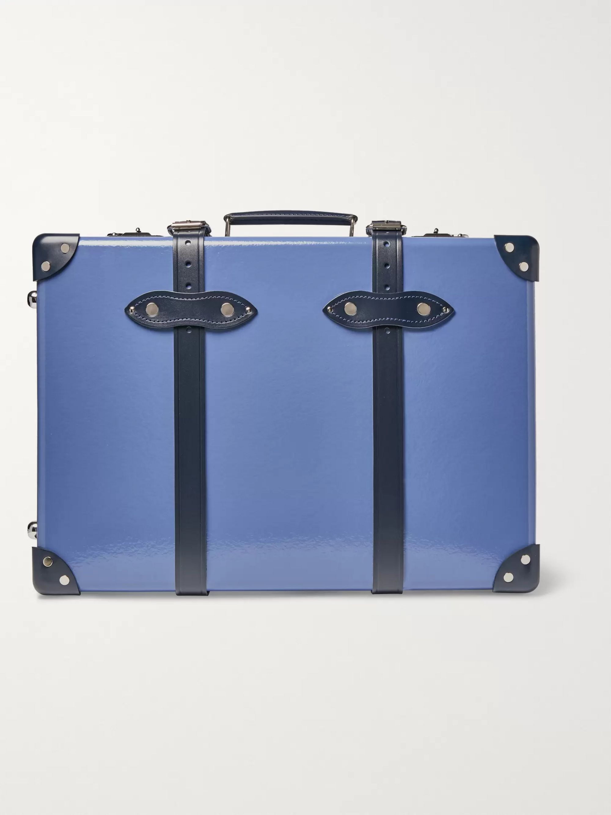 "Globe-Trotter 20"" Leather-Trimmed Carry-On Suitcase"