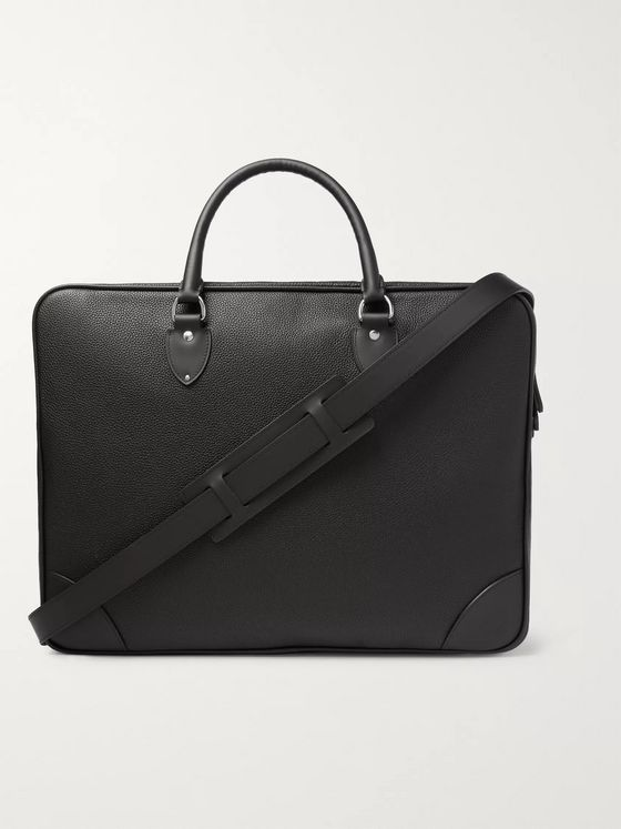 Globe-Trotter Centenary Full-Grain Leather Briefcase