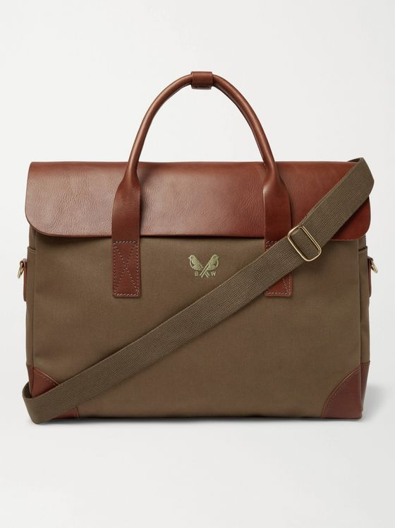 Bennett Winch Cotton-Canvas and Full-Grain Leather Briefcase