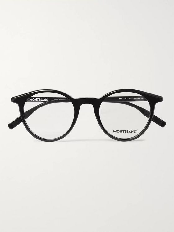 Montblanc Round-Frame Acetate Optical Glasses