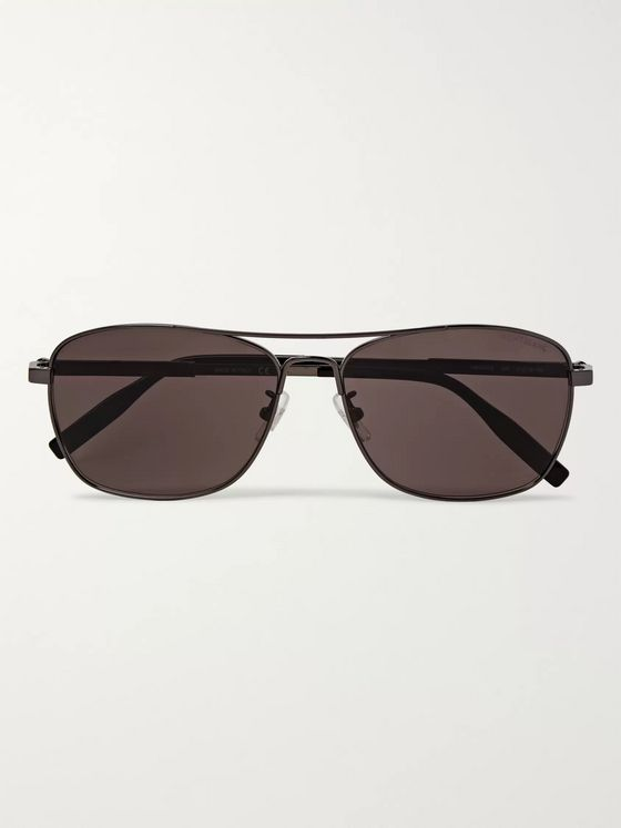 Montblanc Aviator-Style Gunmetal-Tone Polarised Sunglasses