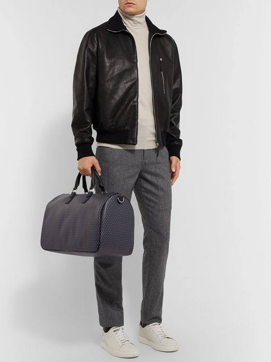 Dunhill Leather-Trimmed Printed Coated-Canvas Holdall
