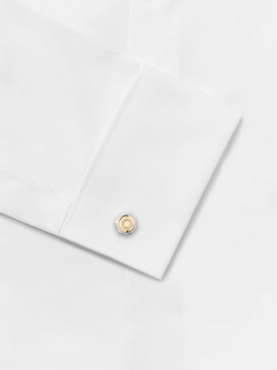 DUNHILL Hex 18-Karat White and Yellow Gold Cufflinks