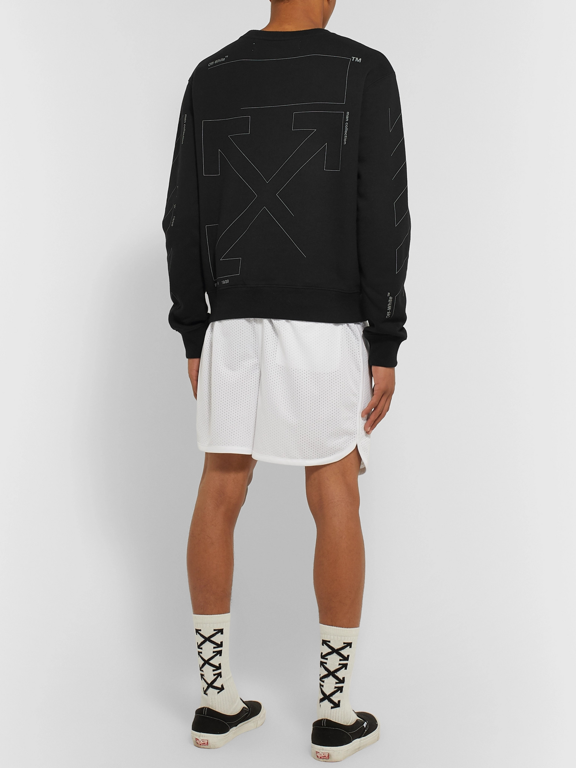Off-White Printed Loopback Cotton-Jersey Sweatshirt