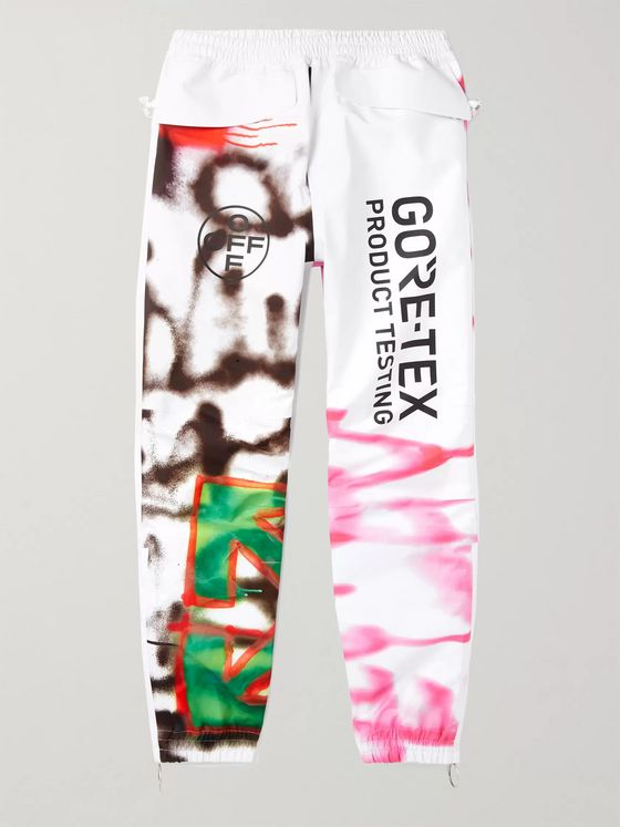 Off-White Slim-Fit Tapered Printed GORE-TEX Trousers