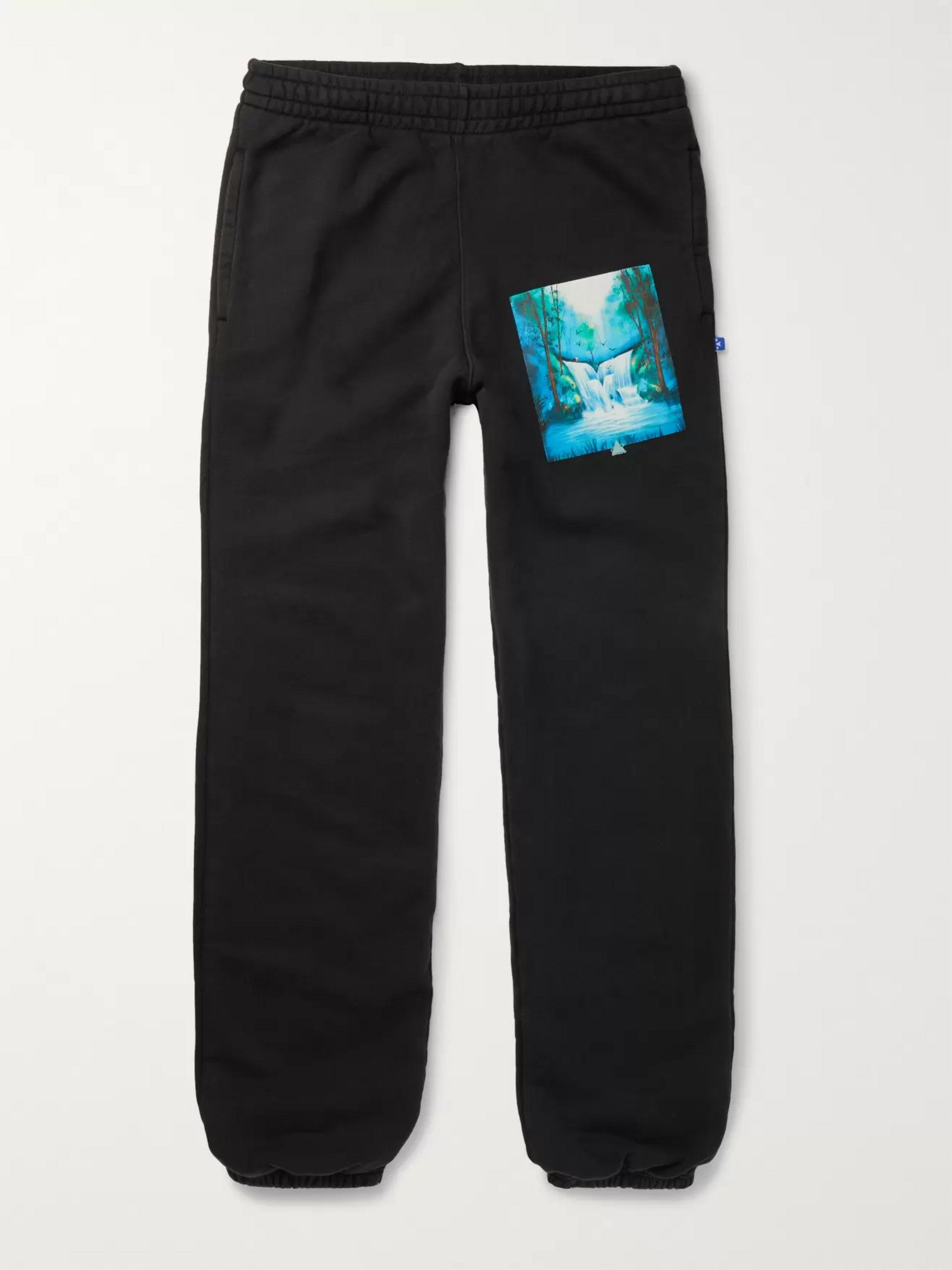 Off-White Slim-Fit Printed Loopback Cotton-Jersey Sweatpants