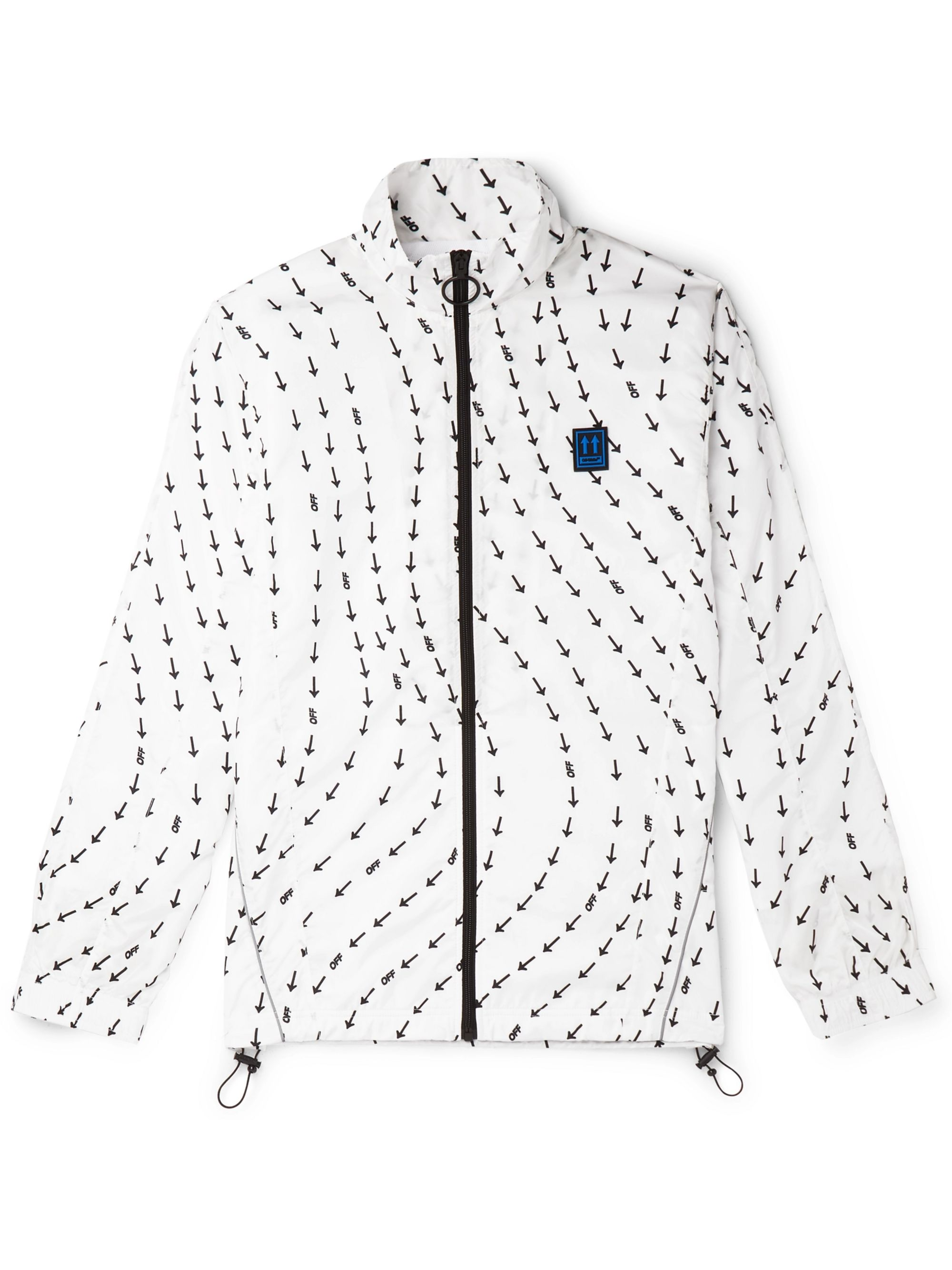 Off-White Logo-Print Shell Track Jacket