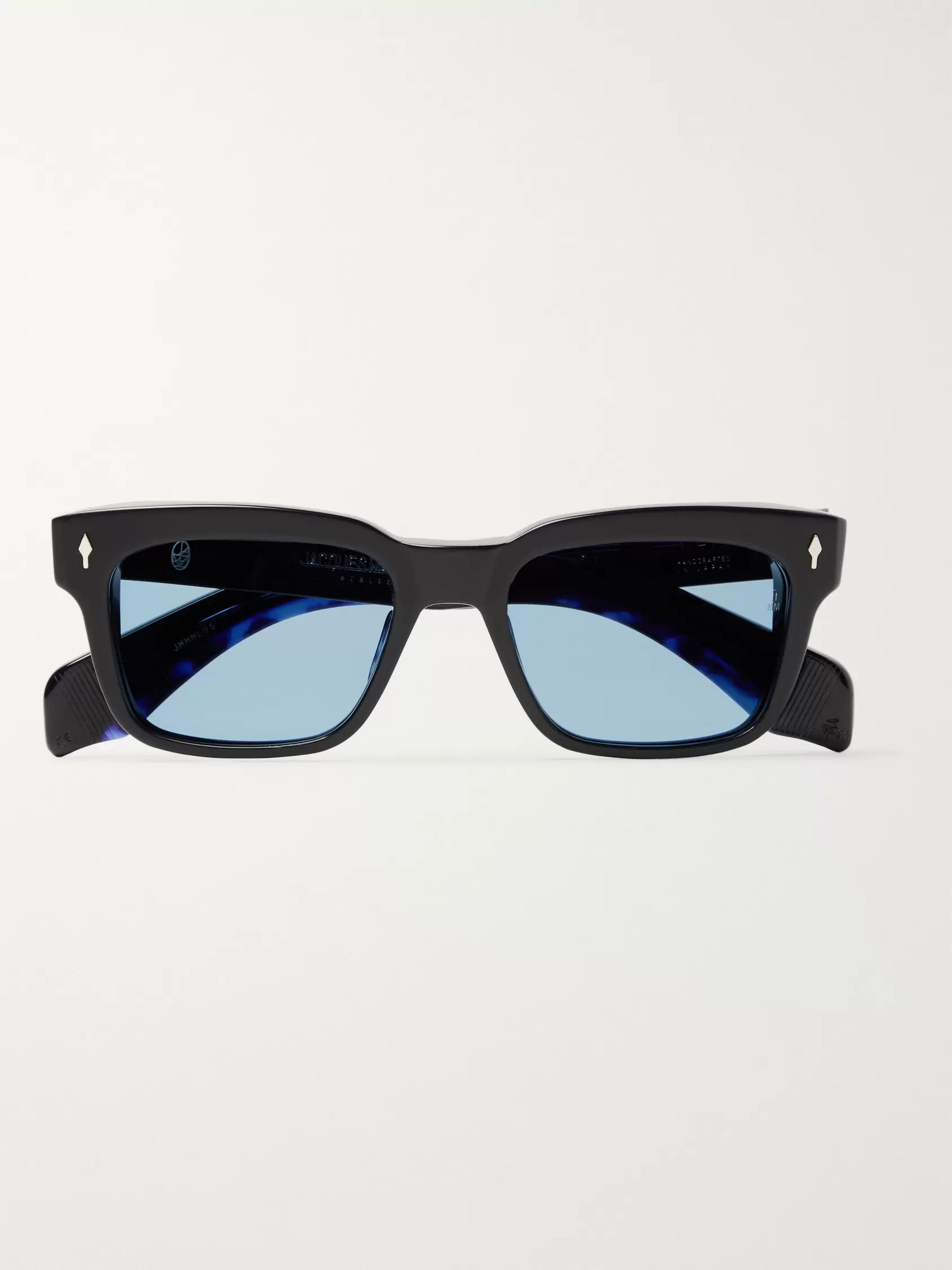 Jacques Marie Mage Molino Square-Frame Acetate and Silver Sunglasses