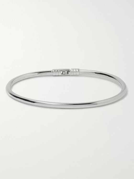 Miansai Chamber Polished Sterling Silver Bracelet