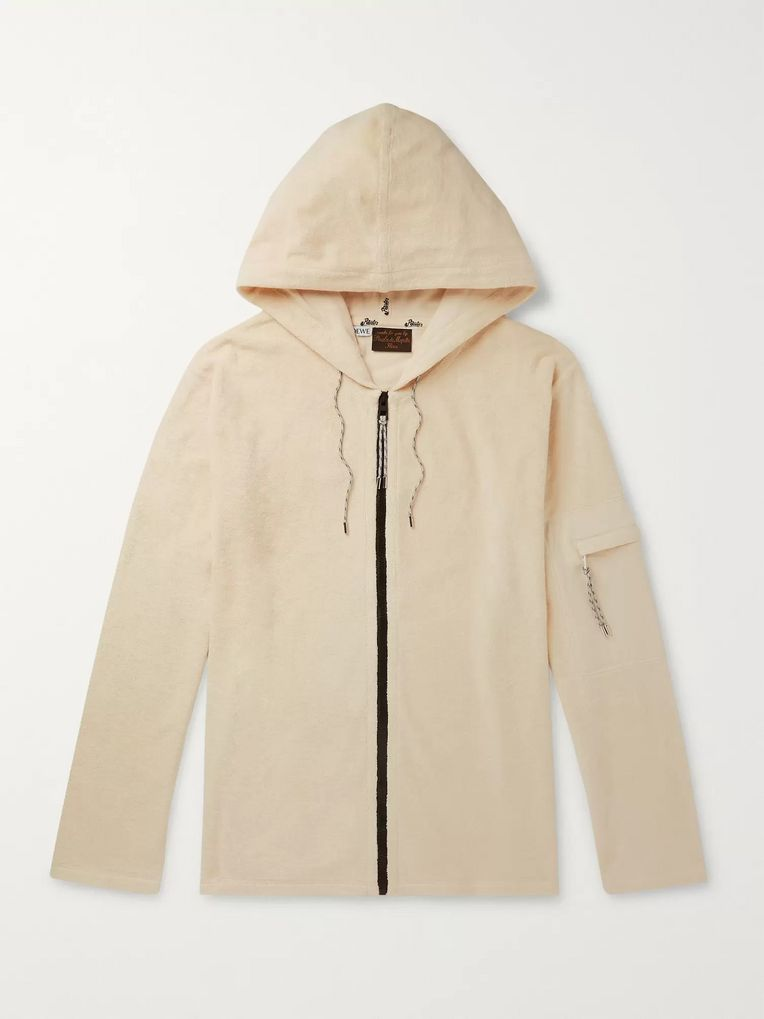 Loewe + Paula's Ibiza Logo-Appliquéd Cotton-Terry Zip-Up Hoodie