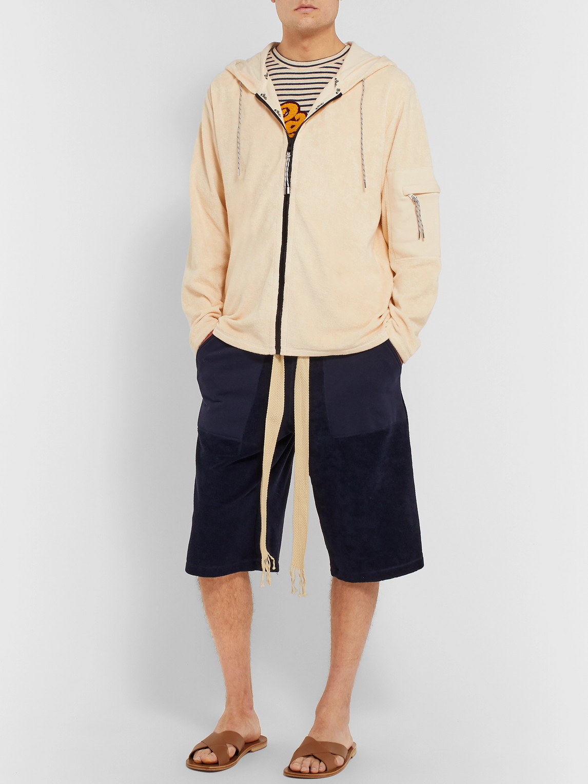 Loewe Tops PAULA'S IBIZA LOGO-APPLIQUÉD COTTON-TERRY ZIP-UP HOODIE