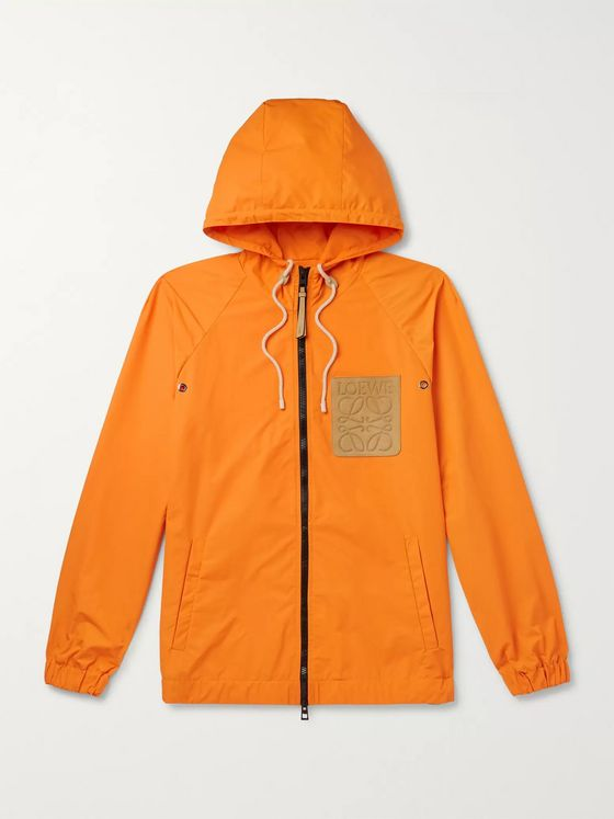 Loewe + Paula's Ibiza Logo-Appliquéd Shell Hooded Jacket