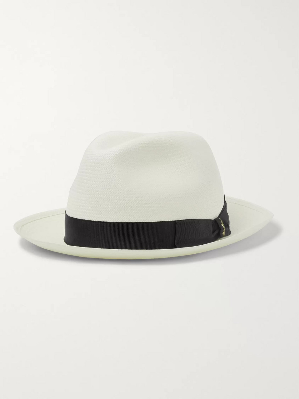 c7d1a62566f2b1 White Grosgrain-Trimmed Straw Panama Hat | Borsalino | MR PORTER
