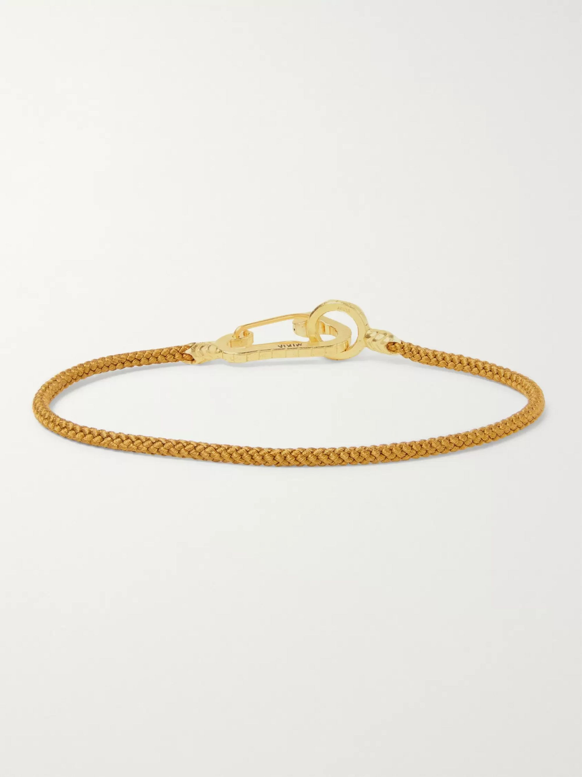 Mikia Cord and Gold-Tone Bracelet