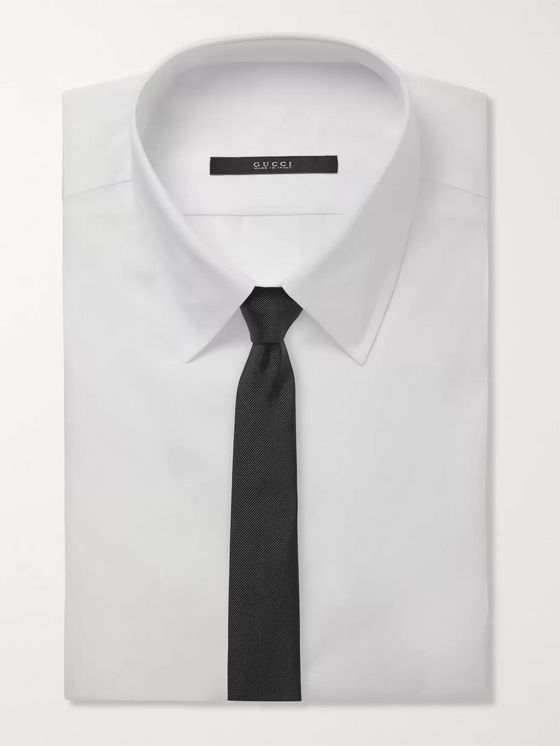 SAINT LAURENT 5cm Silk-Faille Tie