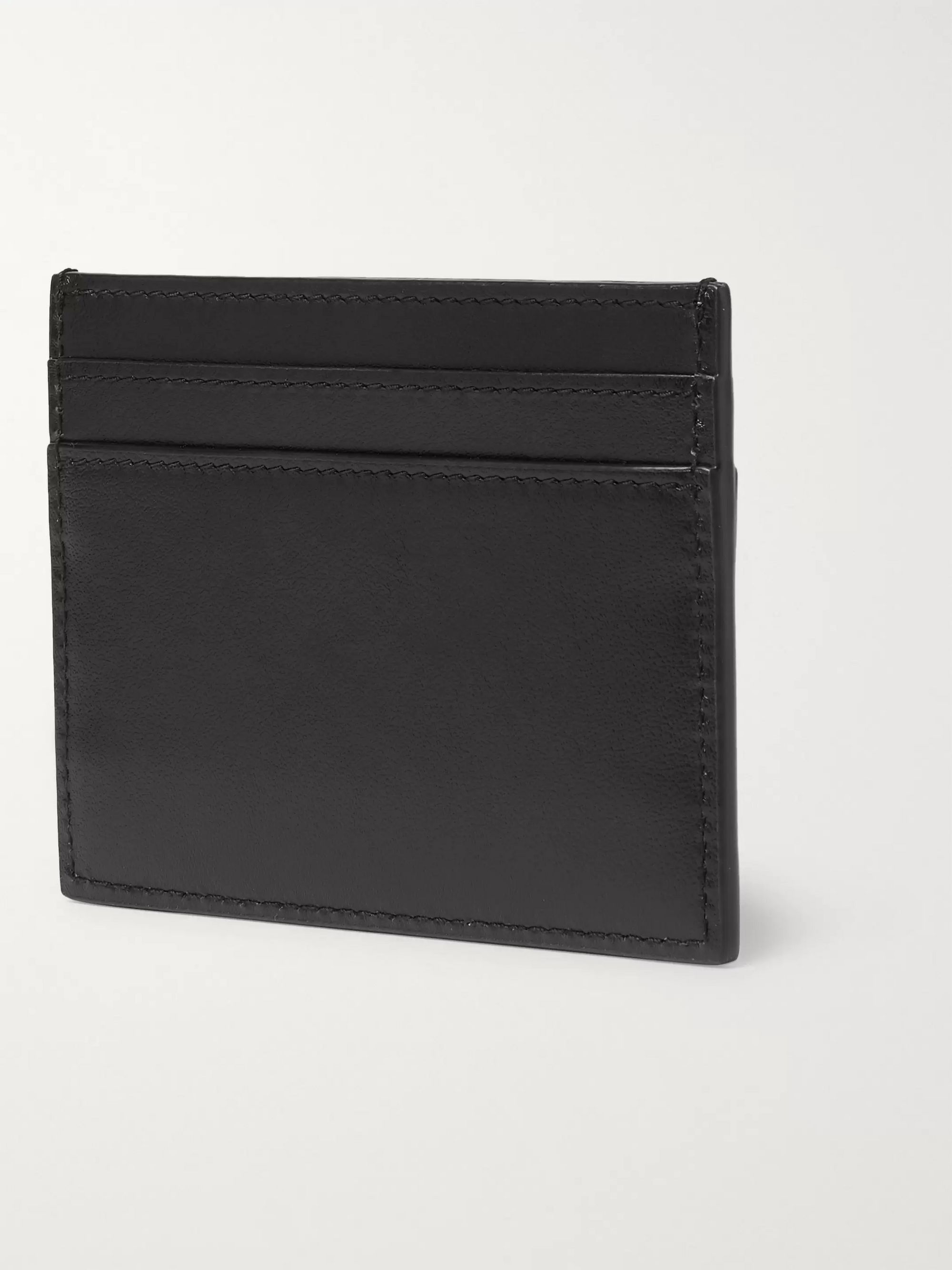 SAINT LAURENT Printed Textured-Leather Cardholder