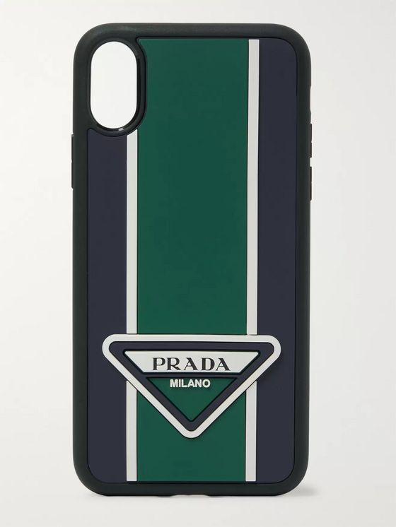 Prada Logo-Detailed Rubber iPhone 6/6S Case