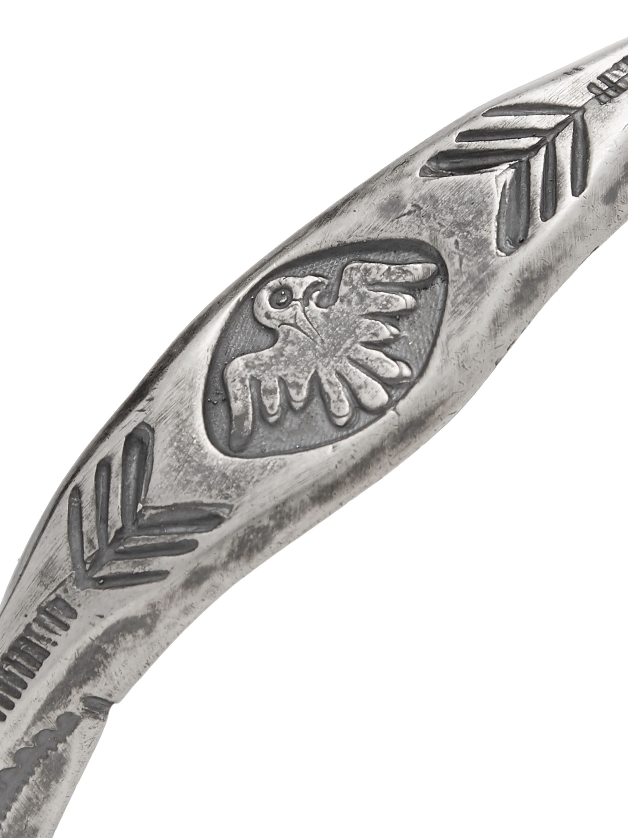 Peyote Bird Thunderbird Engraved Sterling Silver Cuff