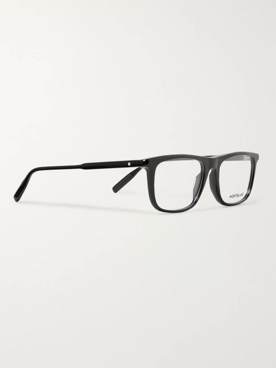 Montblanc Rectangle-Frame Acetate Optical Glasses