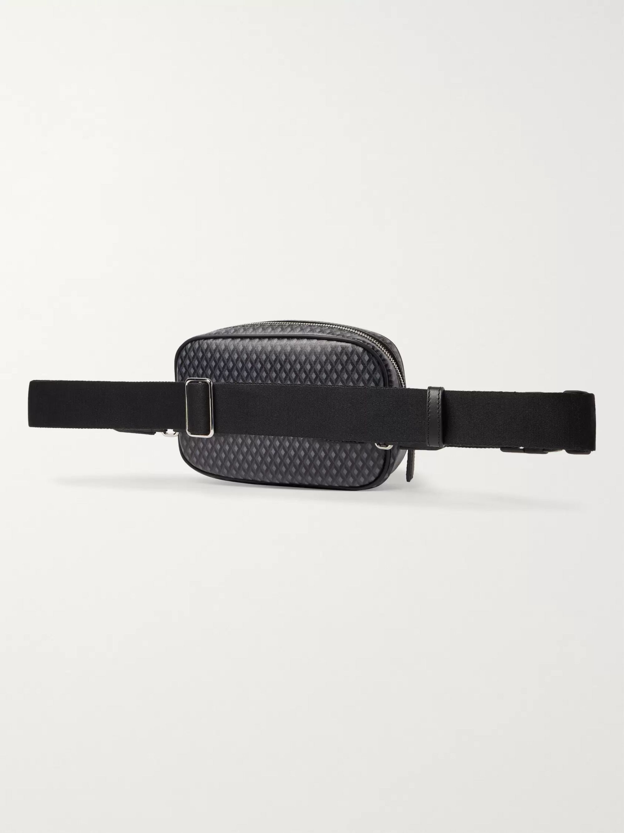 Dunhill Leather-Trimmed Printed Coated-Canvas Belt Bag