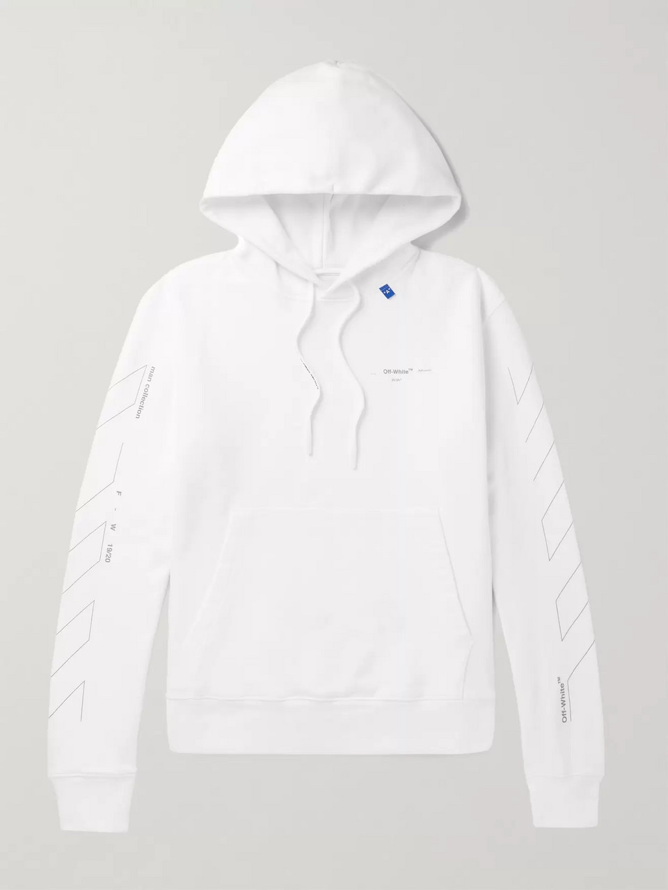 Off-White Slim-Fit Logo-Print Loopback Cotton-Jersey Hoodie