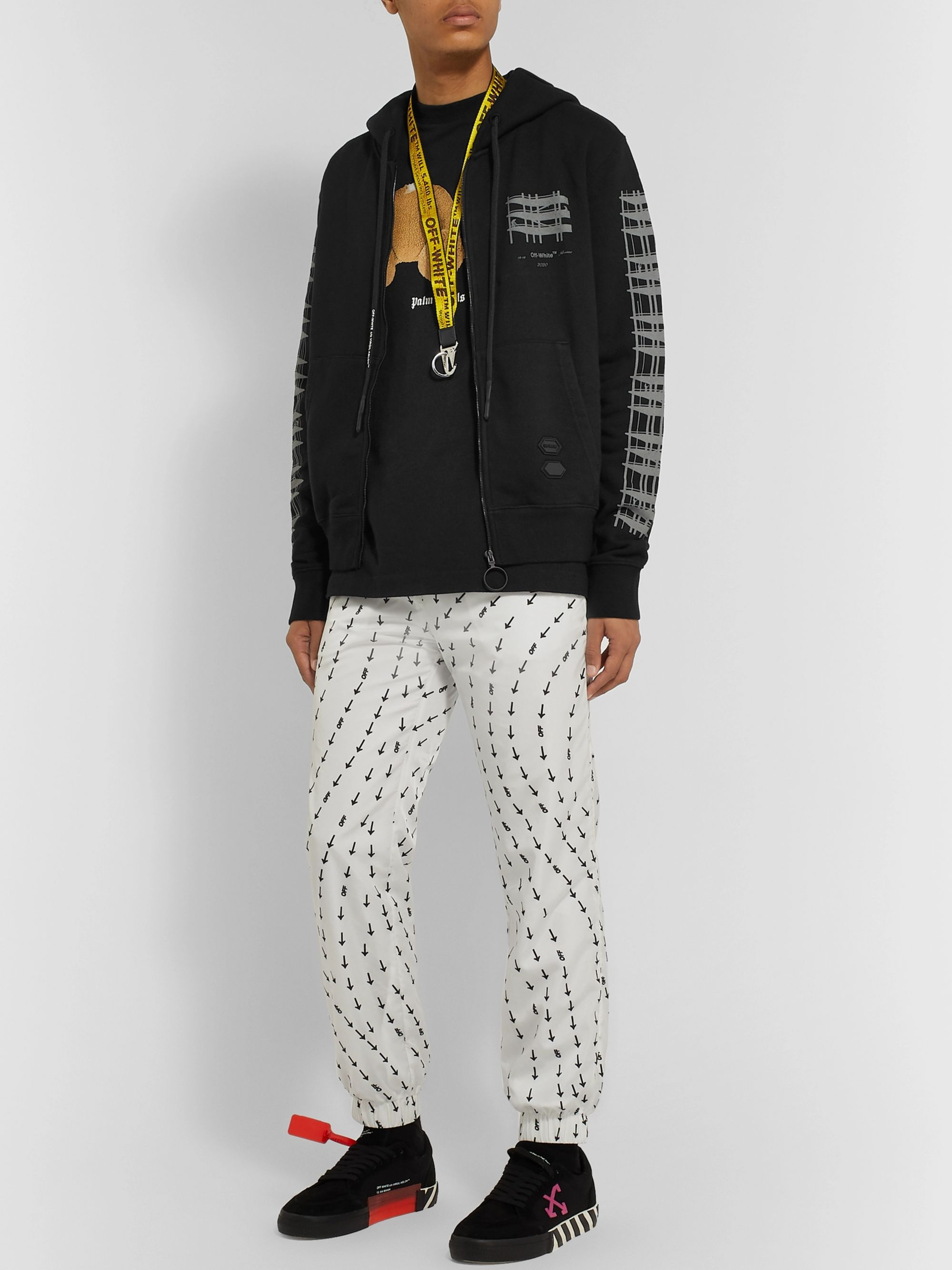 Off-White Printed Loopback Cotton-Jersey Hoodie