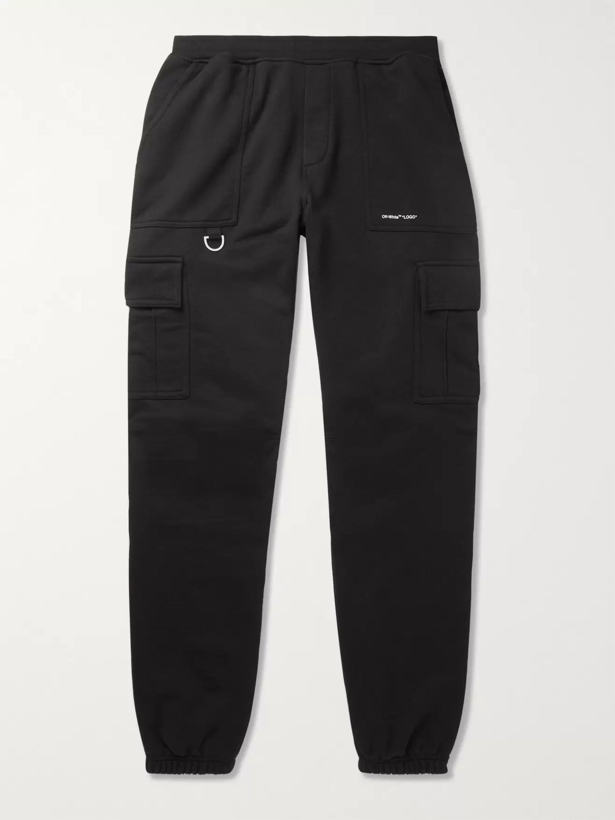 Off-White Logo-Print Cotton-Jersey Cargo Sweatpants