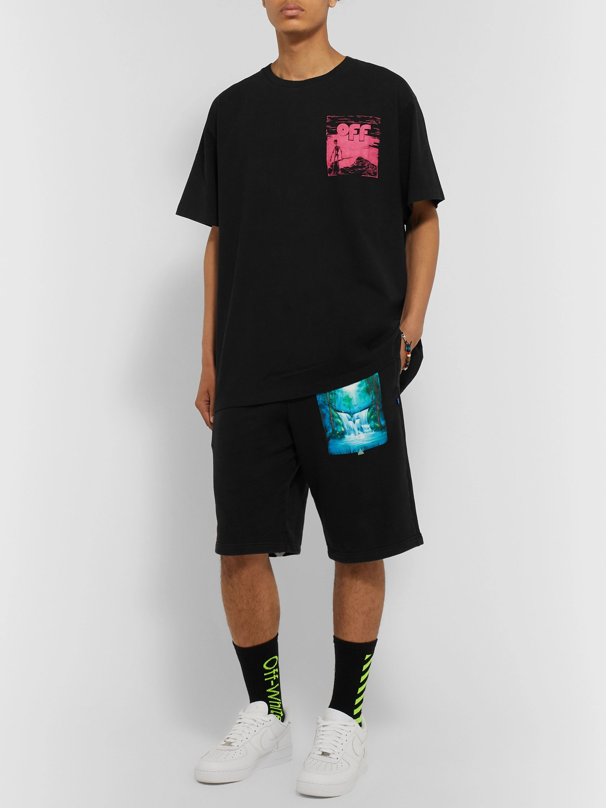 Off-White Oversized Printed Cotton-Jersey T-Shirt
