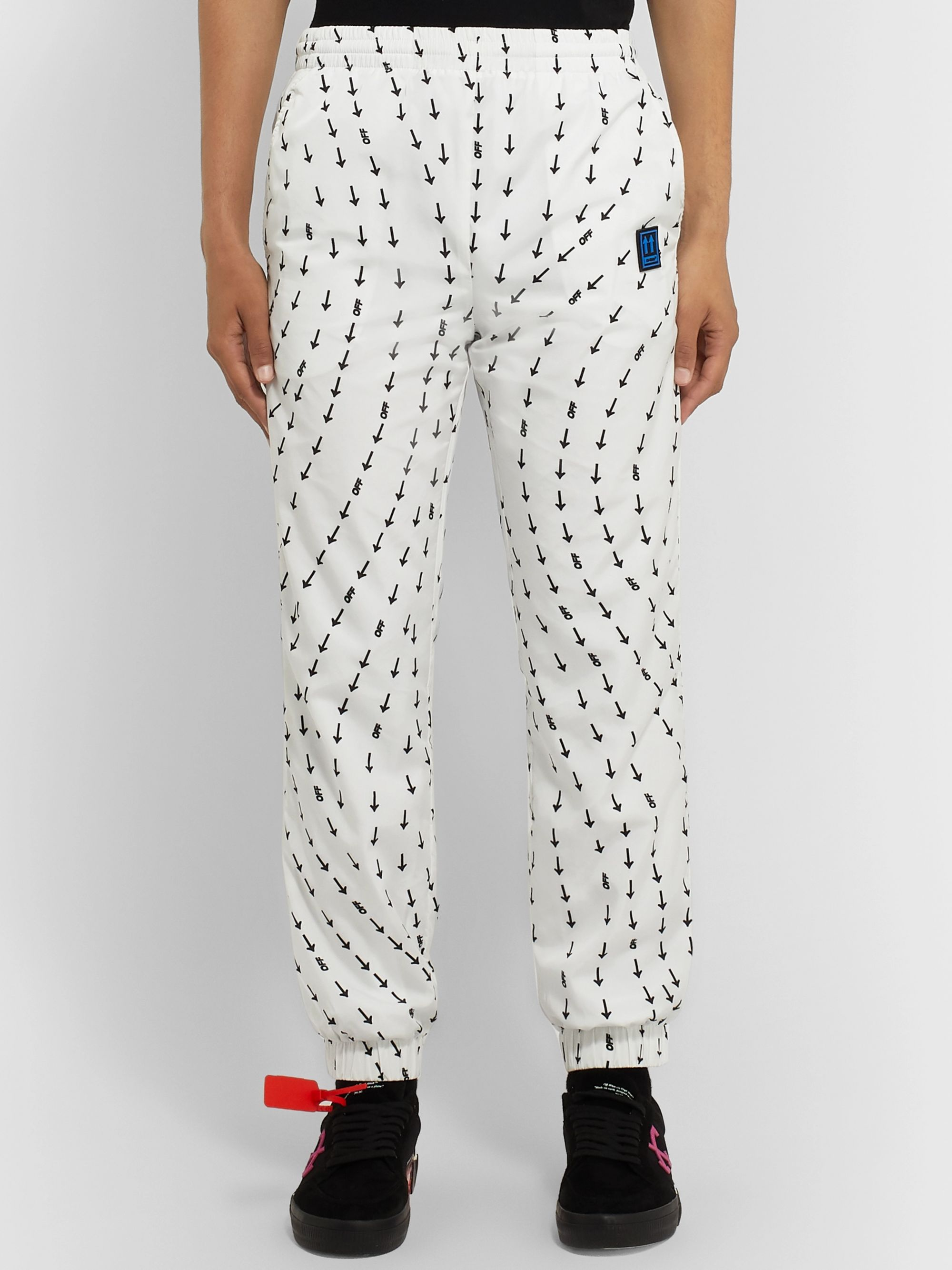 Off-White Slim-Fit Tapered Logo-Print Shell Track Pants
