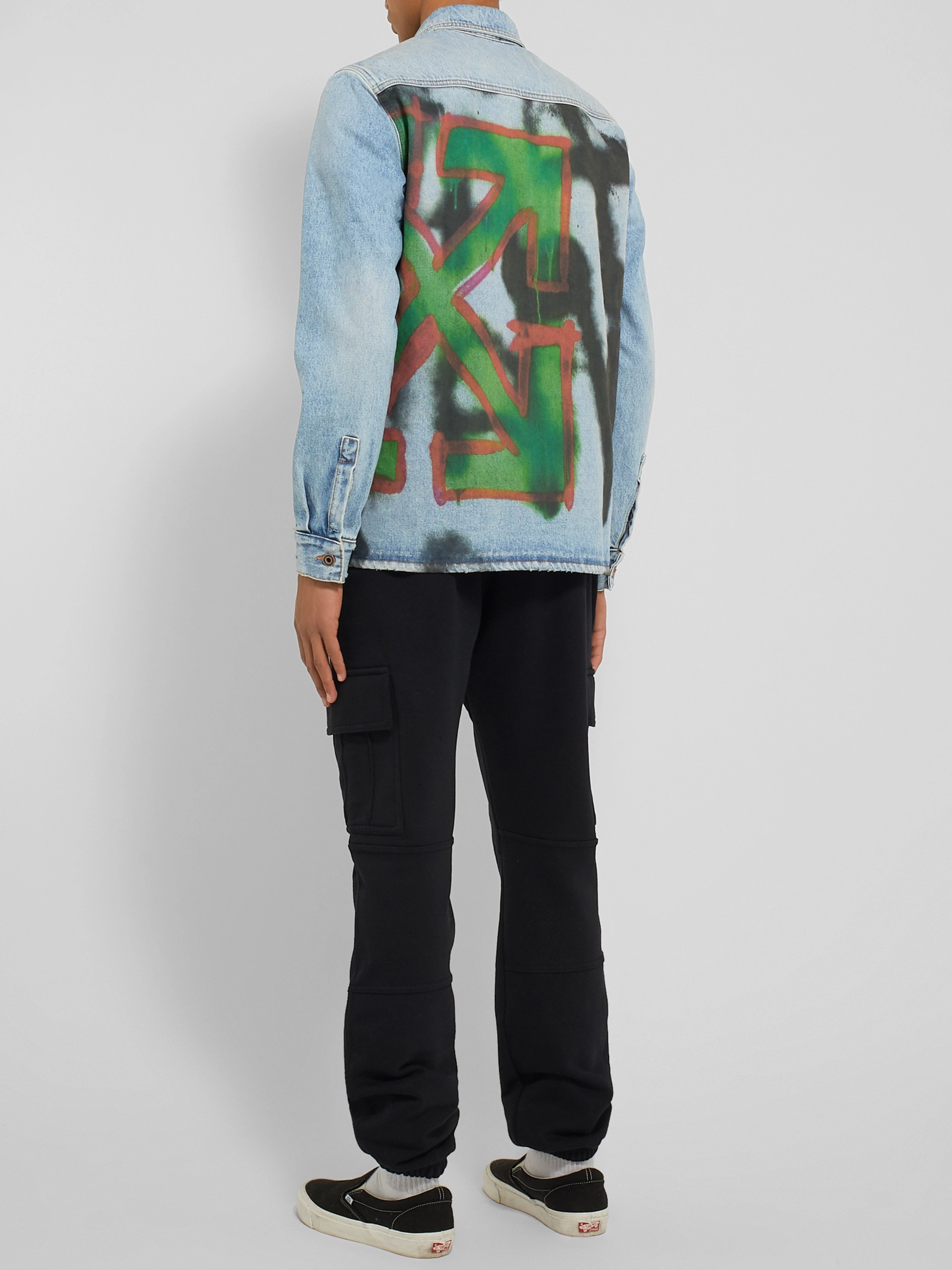 Off-White Logo-Print Denim Shirt