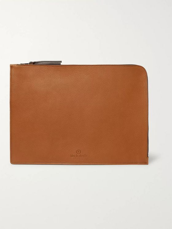 Bleu de Chauffe Jim Full-Grain Leather Pouch