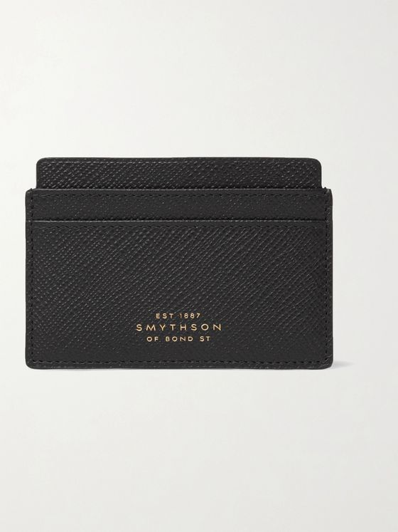 Smythson Panama Cross-Grain Leather Cardholder