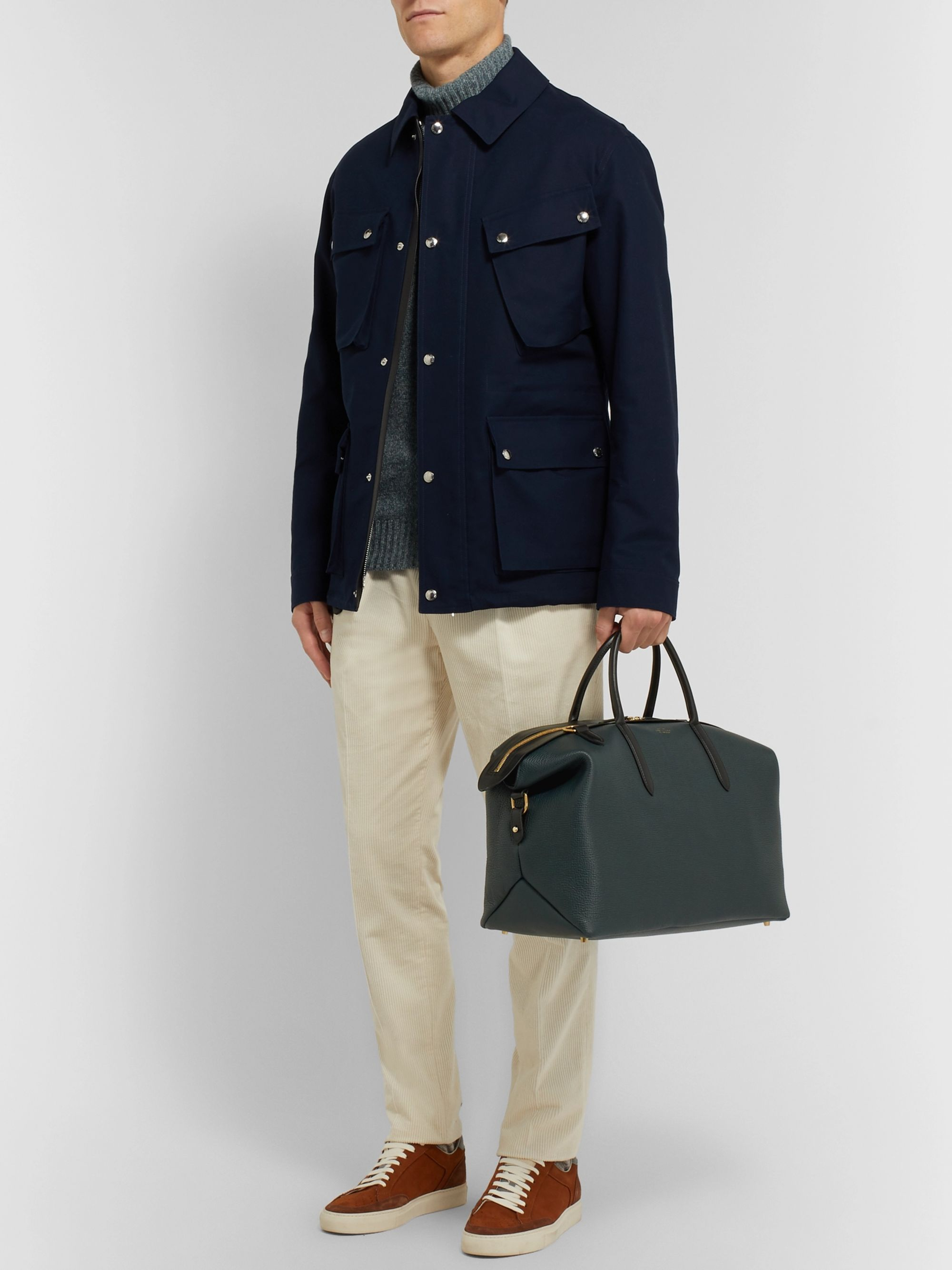 Smythson Full-Grain Leather Holdall