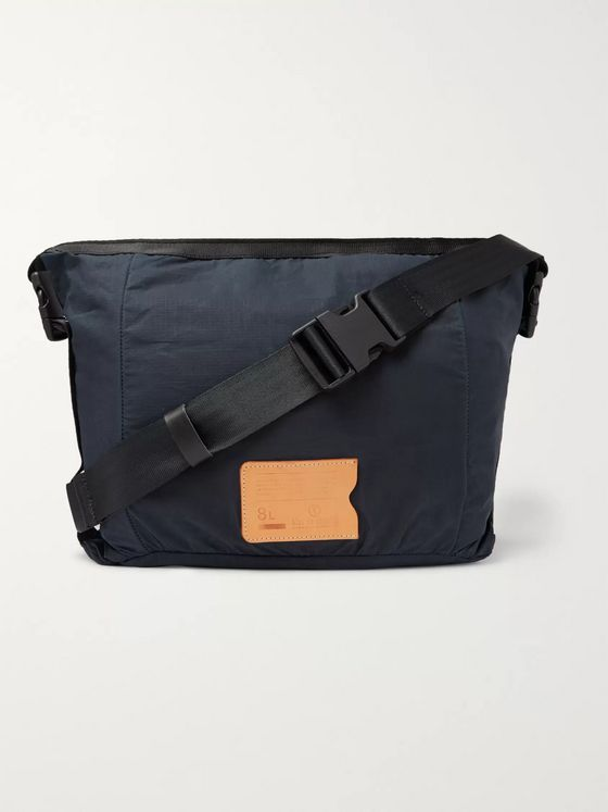 Bleu de Chauffe Bastille Leather-Trimmed Waxed-Ripstop Belt Bag