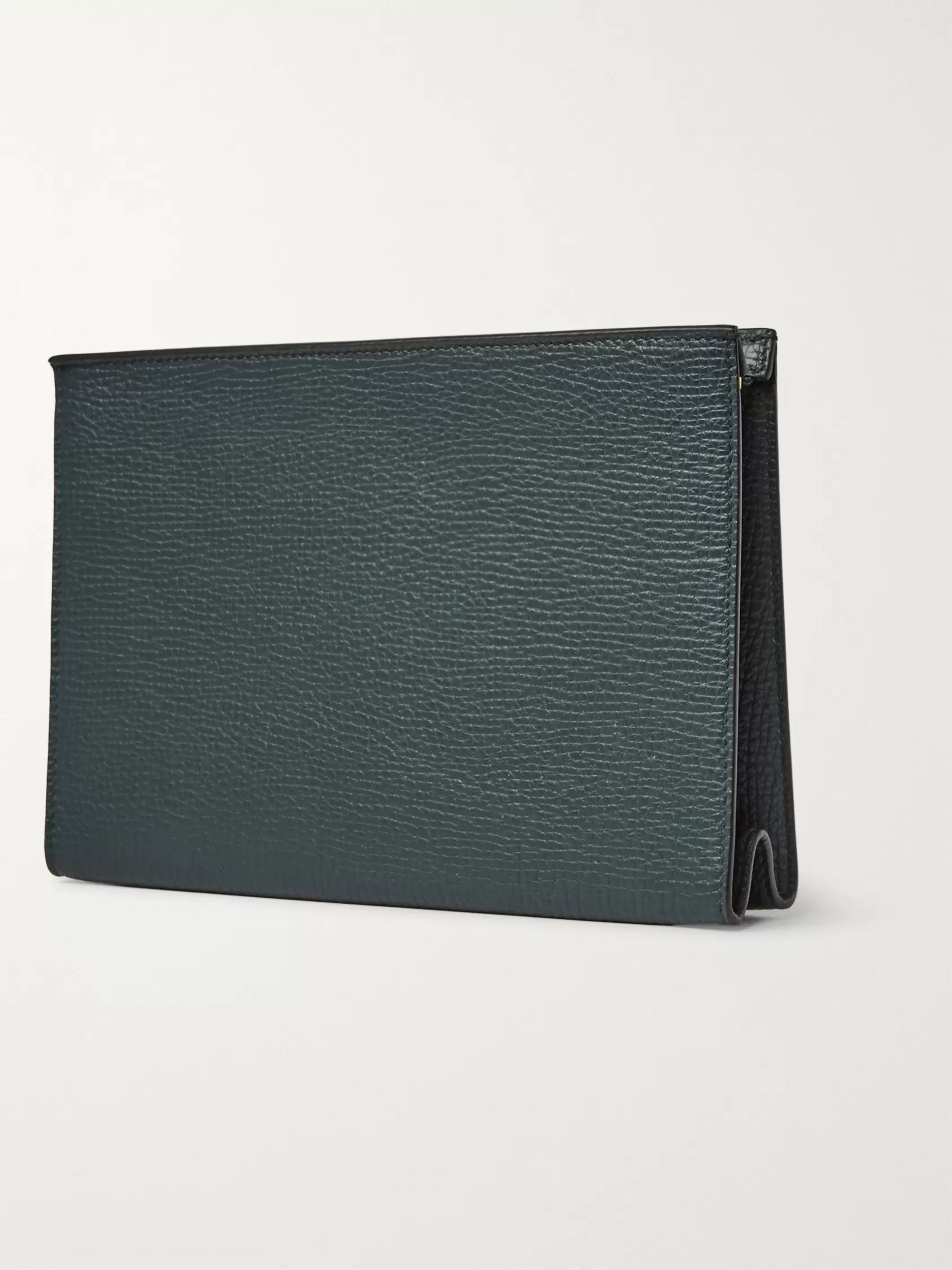 Smythson Full-Grain Leather Pouch
