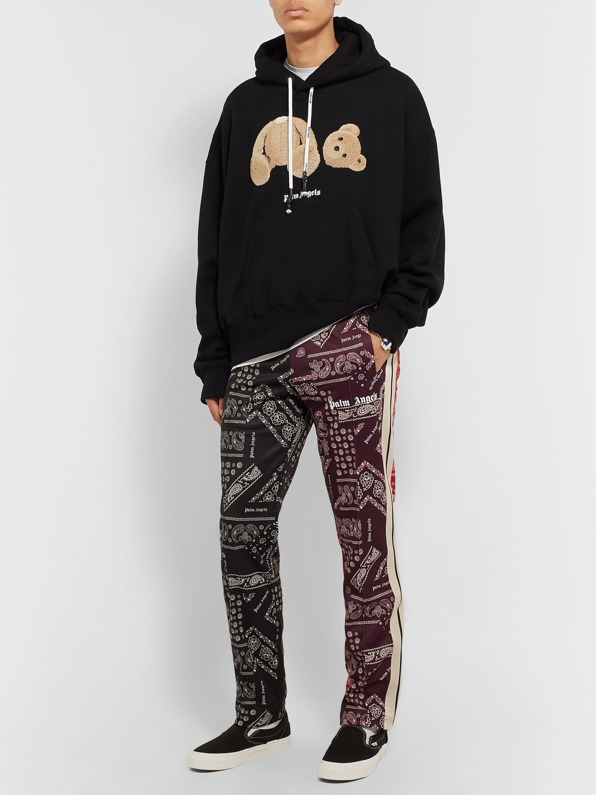 Palm Angels Slim-Fit Tapered Printed Jersey Sweatpants
