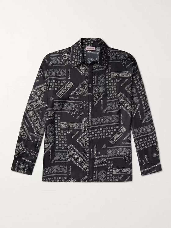 Palm Angels Bandana-Print Twill Shirt
