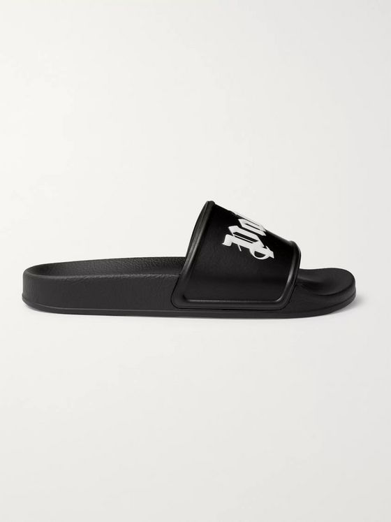PALM ANGELS Logo-Print Rubber Slides