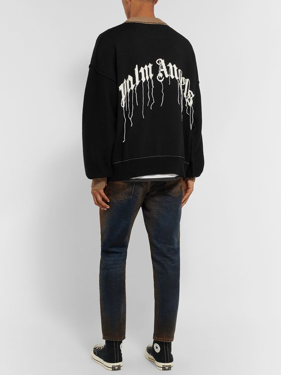 PALM ANGELS Intarsia Wool Sweater