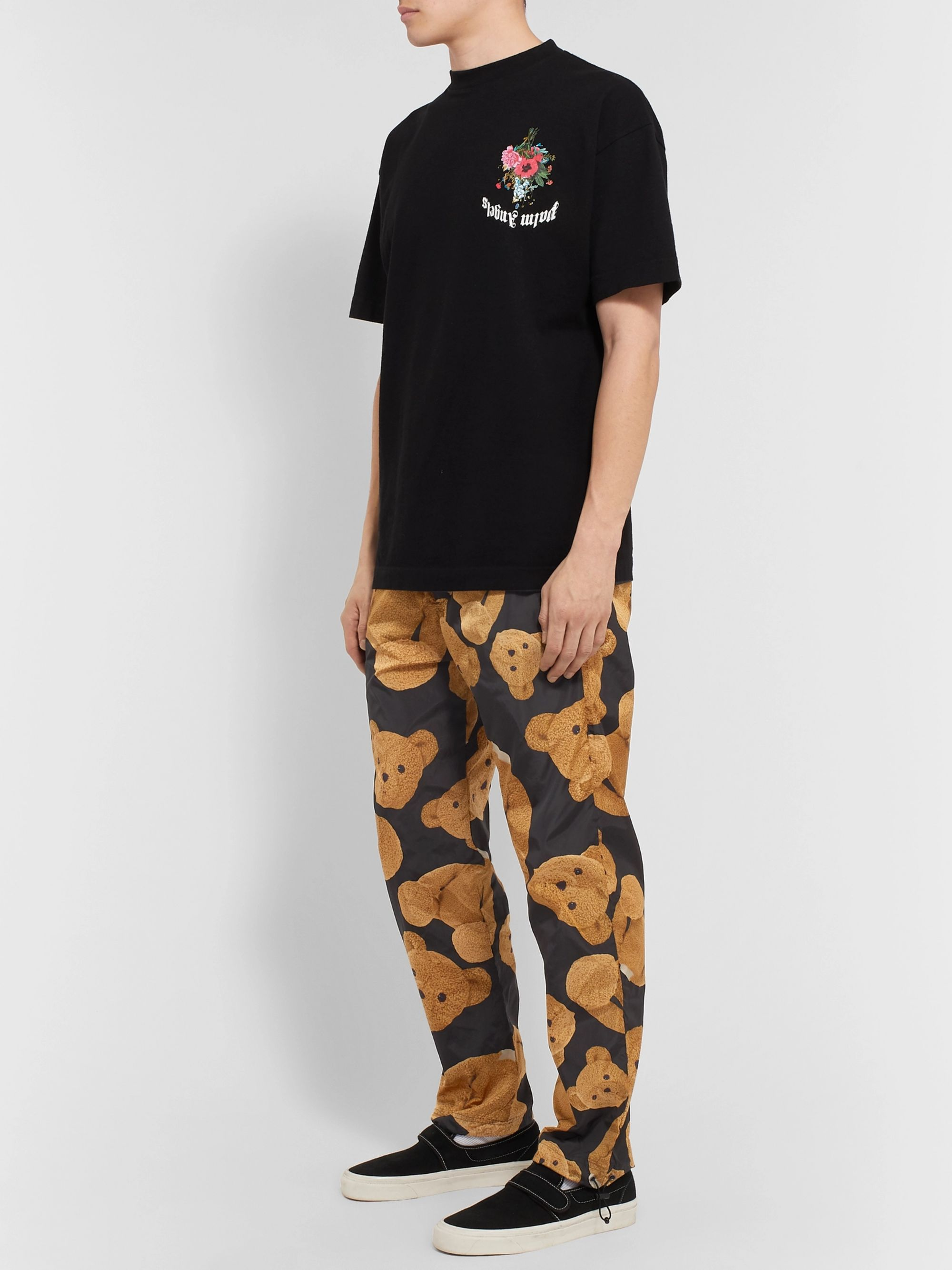 Palm Angels Printed Shell Track Pants