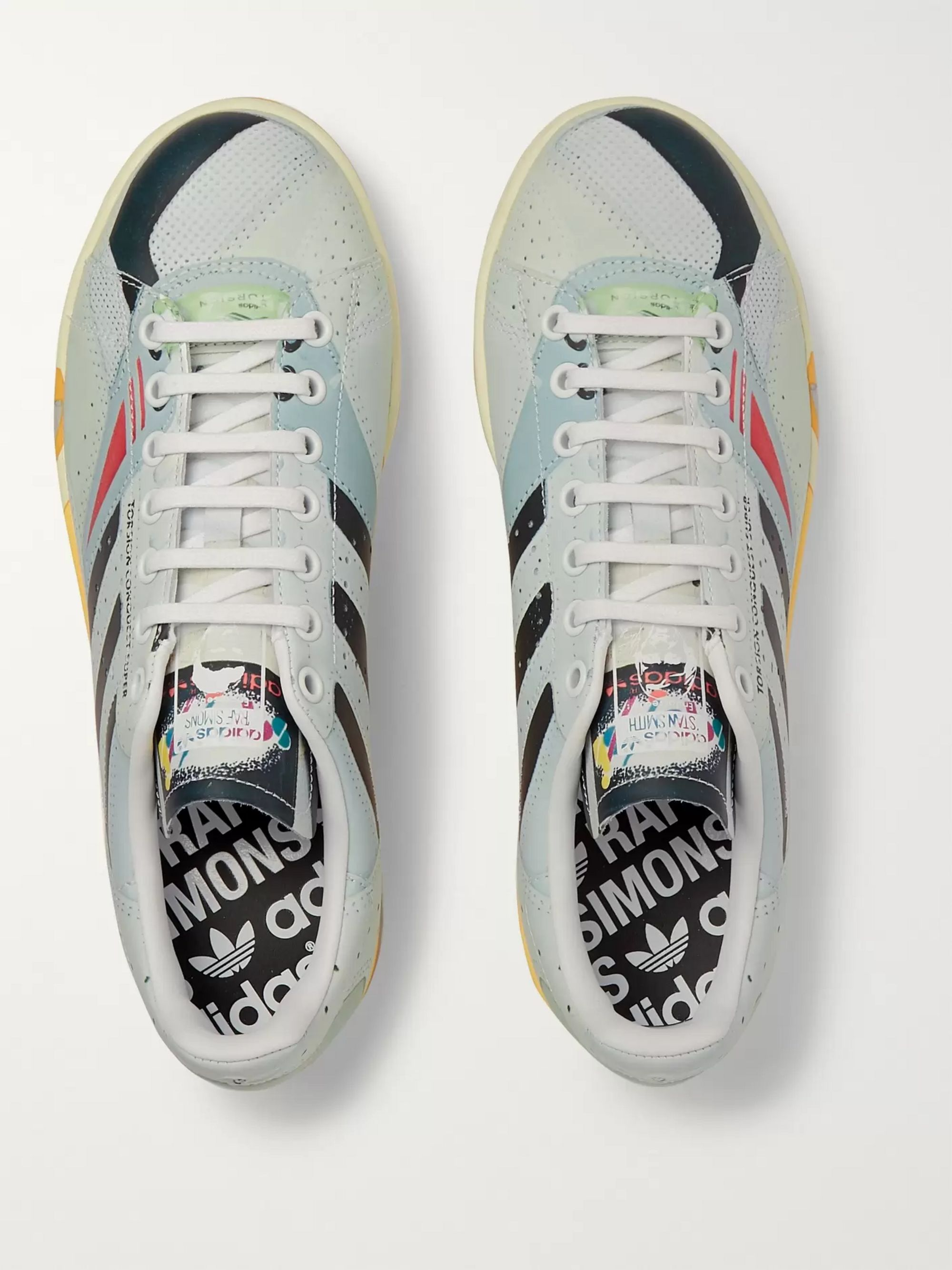 Raf Simons + adidas Originals Torsion Stan Smith Printed Leather Sneakers