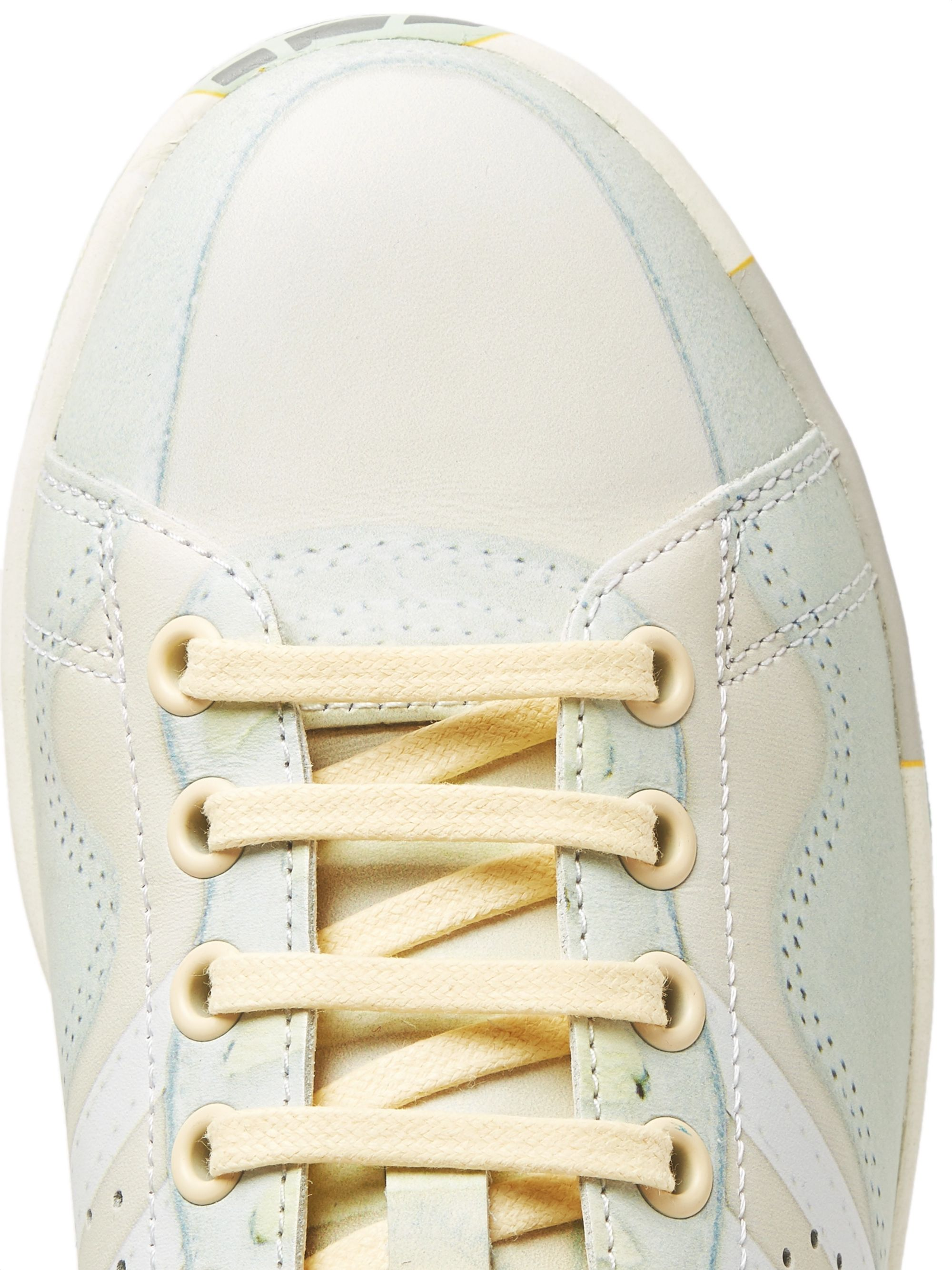 Raf Simons + adidas Originals Peach Stan Smith Printed Leather Sneakers