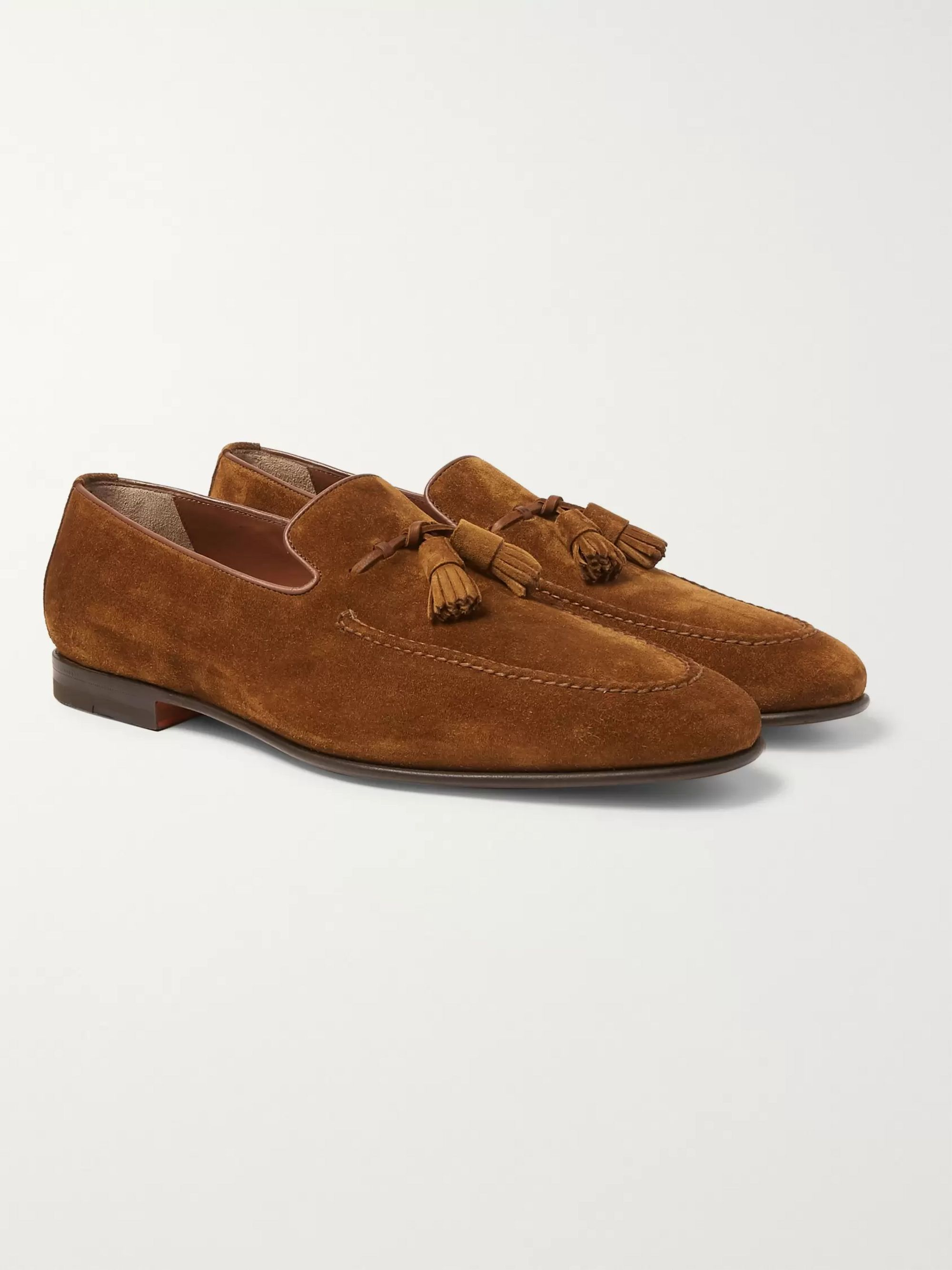 timeless design e26a6 cc428 Suede Tasseled Loafers